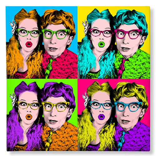 Pop Art couple
